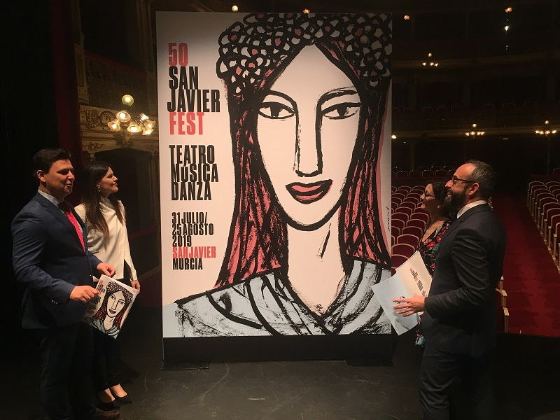 Oscar Mariné firma el cartel del 50 aniversario del Festival de Teatro, Música y Danza que se rind